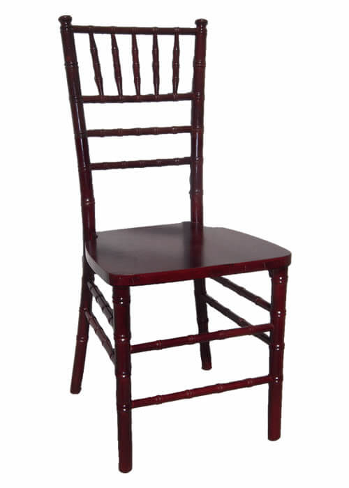 mahogany chiavari chair for rent