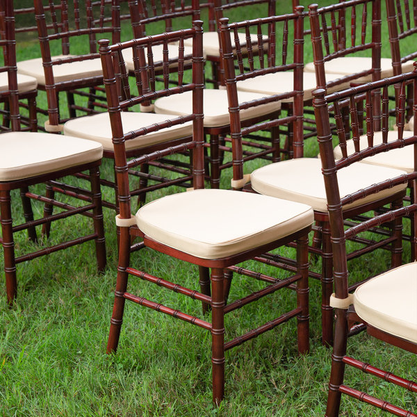 Great Lakes Chiavari - Cushioned Mahogany Chiavari Chair