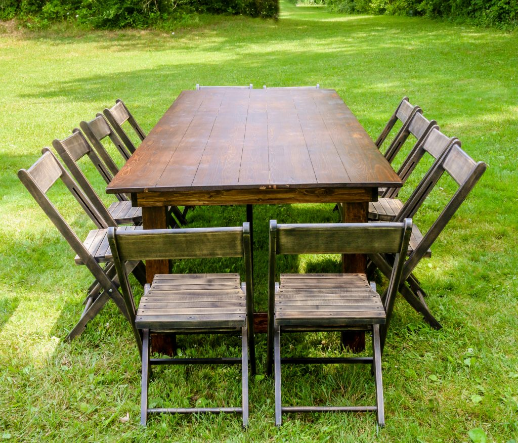 Tables and chairs for rent in Metro Detroit